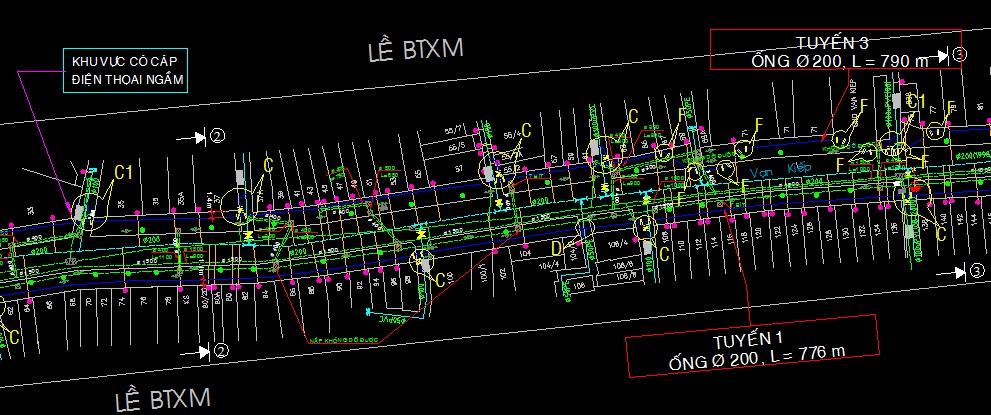 tuyến ống thiết kế cấp nước