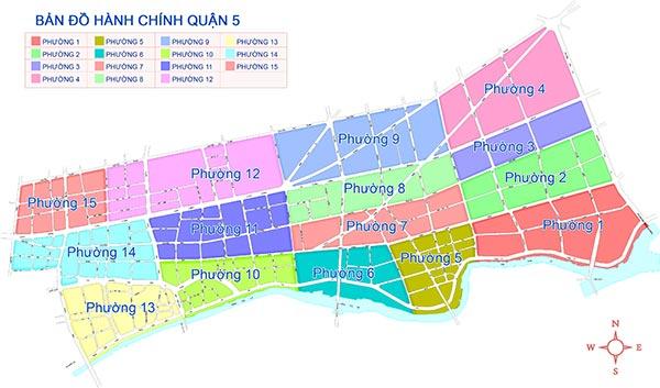 bản đồ hành chính quận 5 (địa chất quận 5)