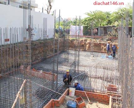 xây dựng phần thô sau khi khảo sát địa chất