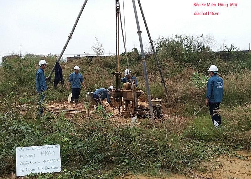 khoan khảo sát địa chất Bến Xe Miền Đông Mới (1)