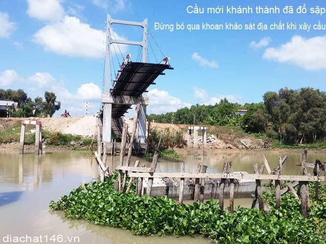 cầu sập do không khoan khảo sát địa chất