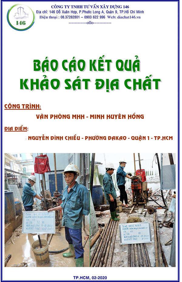 báo cáo địa chất Quận 1, văn phòng Nguyễn Đình Chiểu