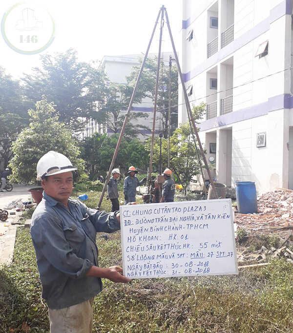 báo cáo khoan khảo sát địa chất chung cư tân tạo - hình khoan